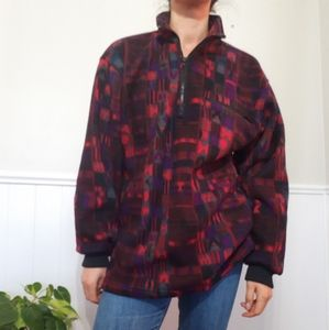 Vintage flannel 1/4 zip sweater